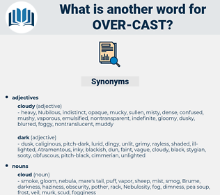 over-cast, synonym over-cast, another word for over-cast, words like over-cast, thesaurus over-cast
