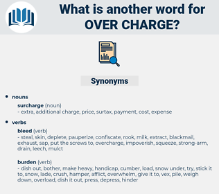over charge, synonym over charge, another word for over charge, words like over charge, thesaurus over charge
