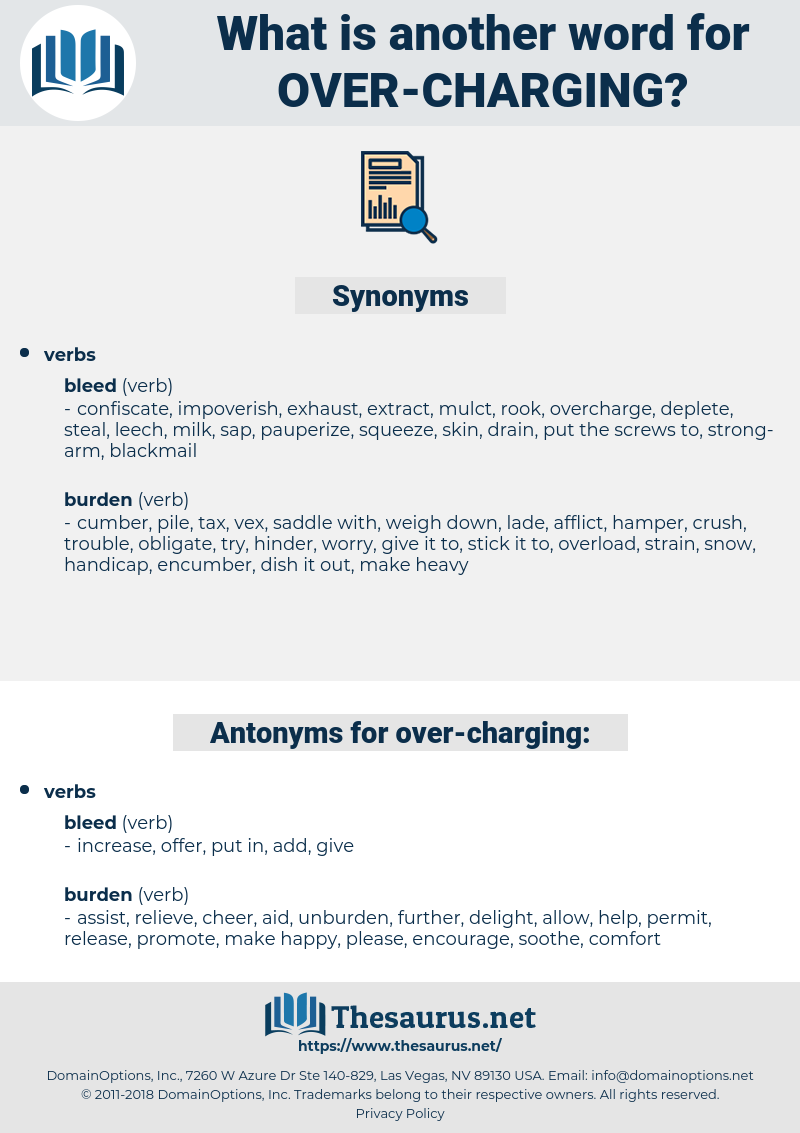 over charging, synonym over charging, another word for over charging, words like over charging, thesaurus over charging
