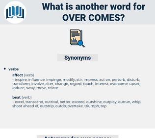 over comes, synonym over comes, another word for over comes, words like over comes, thesaurus over comes