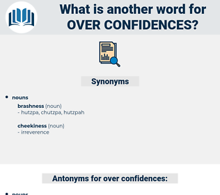 over confidences, synonym over confidences, another word for over confidences, words like over confidences, thesaurus over confidences