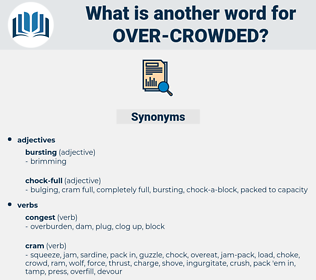 over-crowded, synonym over-crowded, another word for over-crowded, words like over-crowded, thesaurus over-crowded