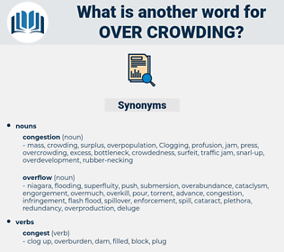 over crowding, synonym over crowding, another word for over crowding, words like over crowding, thesaurus over crowding