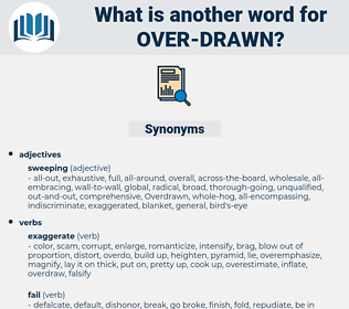 over-drawn, synonym over-drawn, another word for over-drawn, words like over-drawn, thesaurus over-drawn