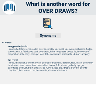 over-draws, synonym over-draws, another word for over-draws, words like over-draws, thesaurus over-draws
