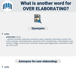 over-elaborating, synonym over-elaborating, another word for over-elaborating, words like over-elaborating, thesaurus over-elaborating