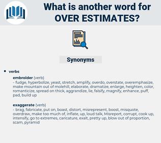 over-estimates, synonym over-estimates, another word for over-estimates, words like over-estimates, thesaurus over-estimates