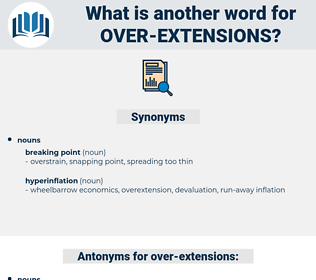 over extensions, synonym over extensions, another word for over extensions, words like over extensions, thesaurus over extensions