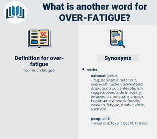 over fatigue, synonym over fatigue, another word for over fatigue, words like over fatigue, thesaurus over fatigue
