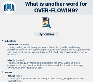 over flowing, synonym over flowing, another word for over flowing, words like over flowing, thesaurus over flowing