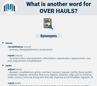 over hauls, synonym over hauls, another word for over hauls, words like over hauls, thesaurus over hauls
