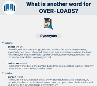 over-loads, synonym over-loads, another word for over-loads, words like over-loads, thesaurus over-loads