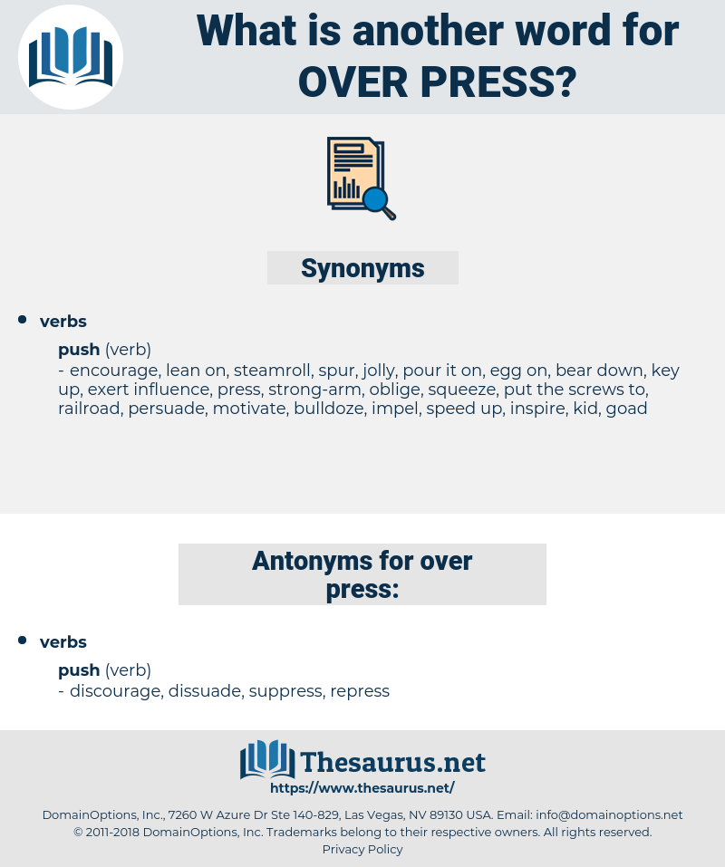 over-press, synonym over-press, another word for over-press, words like over-press, thesaurus over-press