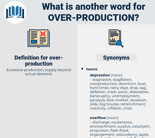 over-production, synonym over-production, another word for over-production, words like over-production, thesaurus over-production