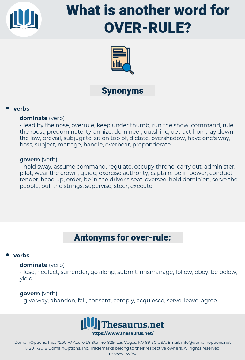 over-rule, synonym over-rule, another word for over-rule, words like over-rule, thesaurus over-rule