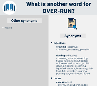 over-run, synonym over-run, another word for over-run, words like over-run, thesaurus over-run