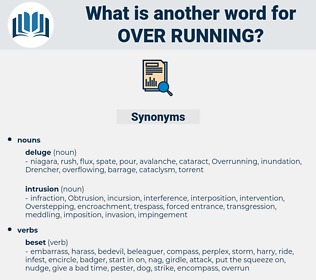 over running, synonym over running, another word for over running, words like over running, thesaurus over running
