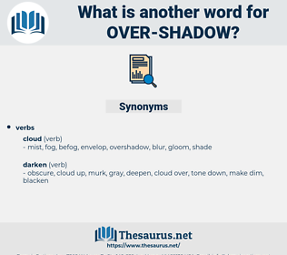 over-shadow, synonym over-shadow, another word for over-shadow, words like over-shadow, thesaurus over-shadow
