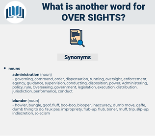 over sights, synonym over sights, another word for over sights, words like over sights, thesaurus over sights