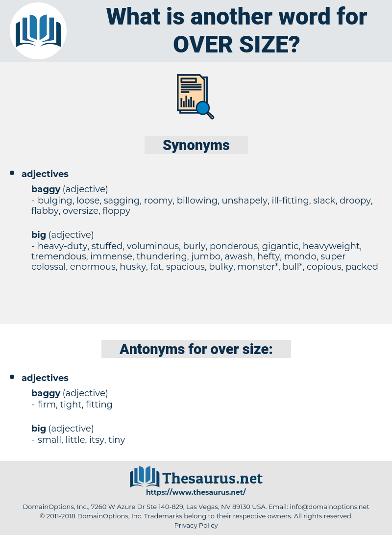 over size, synonym over size, another word for over size, words like over size, thesaurus over size