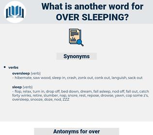 over-sleeping, synonym over-sleeping, another word for over-sleeping, words like over-sleeping, thesaurus over-sleeping