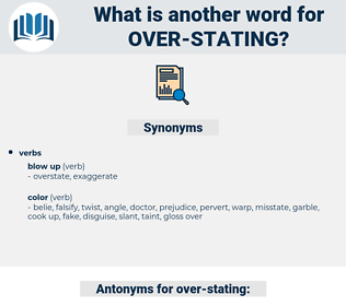 over stating, synonym over stating, another word for over stating, words like over stating, thesaurus over stating