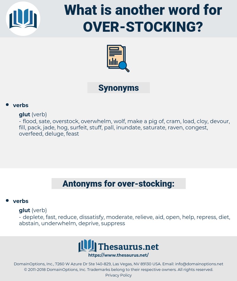 over stocking, synonym over stocking, another word for over stocking, words like over stocking, thesaurus over stocking