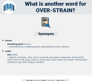 over-strain, synonym over-strain, another word for over-strain, words like over-strain, thesaurus over-strain