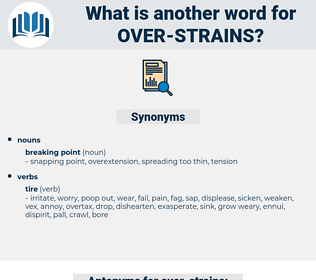 over strains, synonym over strains, another word for over strains, words like over strains, thesaurus over strains