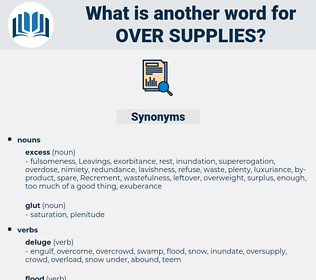 over-supplies, synonym over-supplies, another word for over-supplies, words like over-supplies, thesaurus over-supplies