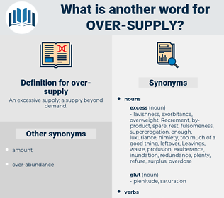 over-supply, synonym over-supply, another word for over-supply, words like over-supply, thesaurus over-supply