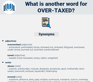 over taxed, synonym over taxed, another word for over taxed, words like over taxed, thesaurus over taxed