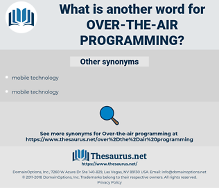over-the-air programming, synonym over-the-air programming, another word for over-the-air programming, words like over-the-air programming, thesaurus over-the-air programming