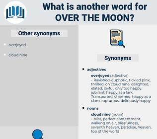 over the moon, synonym over the moon, another word for over the moon, words like over the moon, thesaurus over the moon