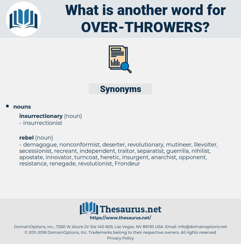 over-throwers, synonym over-throwers, another word for over-throwers, words like over-throwers, thesaurus over-throwers