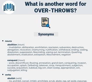 over throws, synonym over throws, another word for over throws, words like over throws, thesaurus over throws