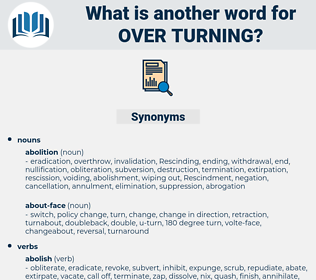 over turning, synonym over turning, another word for over turning, words like over turning, thesaurus over turning