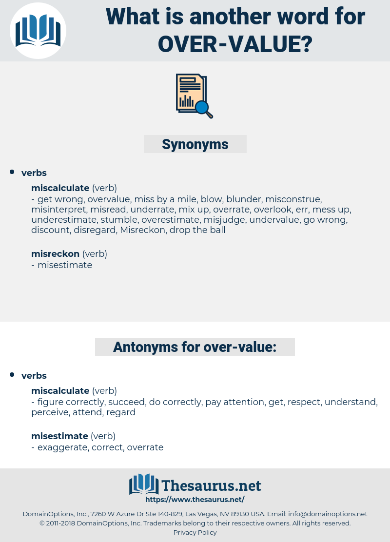 over value, synonym over value, another word for over value, words like over value, thesaurus over value