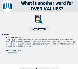 over values, synonym over values, another word for over values, words like over values, thesaurus over values