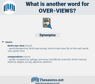 over views, synonym over views, another word for over views, words like over views, thesaurus over views