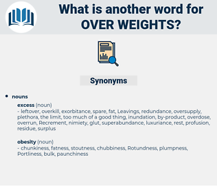 over weights, synonym over weights, another word for over weights, words like over weights, thesaurus over weights