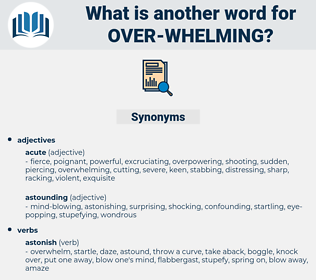 over whelming, synonym over whelming, another word for over whelming, words like over whelming, thesaurus over whelming