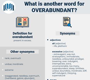 overabundant, synonym overabundant, another word for overabundant, words like overabundant, thesaurus overabundant