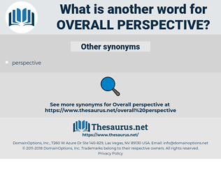 overall perspective, synonym overall perspective, another word for overall perspective, words like overall perspective, thesaurus overall perspective