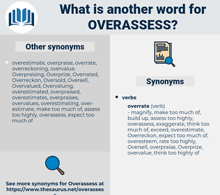 overassess, synonym overassess, another word for overassess, words like overassess, thesaurus overassess