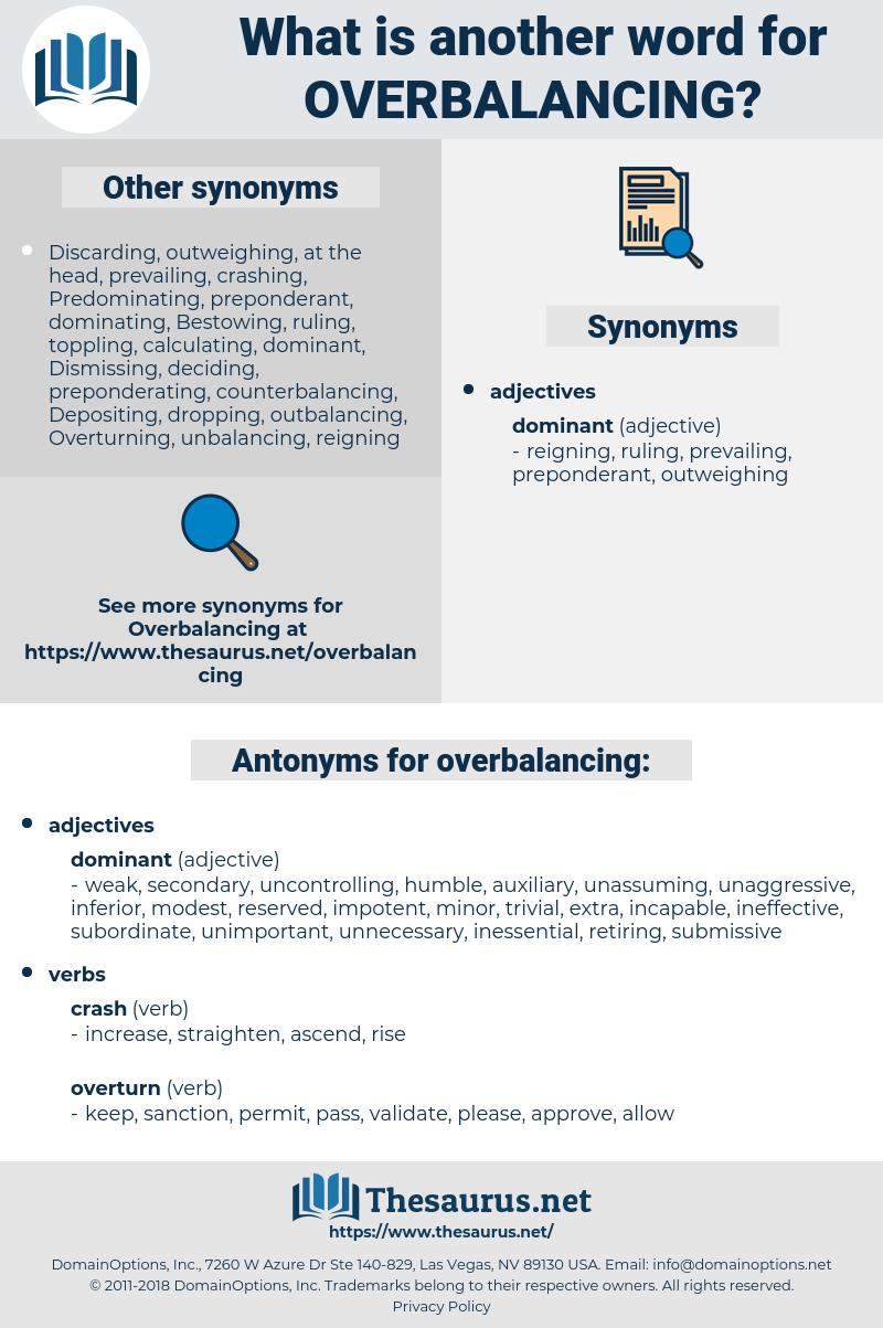 overbalancing, synonym overbalancing, another word for overbalancing, words like overbalancing, thesaurus overbalancing