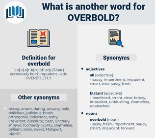 overbold, synonym overbold, another word for overbold, words like overbold, thesaurus overbold