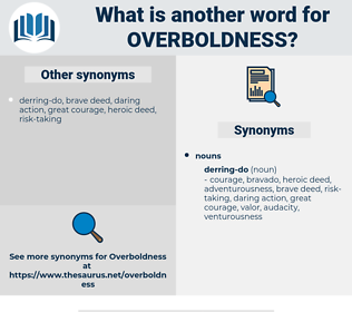 overboldness, synonym overboldness, another word for overboldness, words like overboldness, thesaurus overboldness