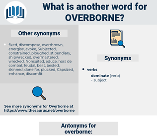 overborne, synonym overborne, another word for overborne, words like overborne, thesaurus overborne
