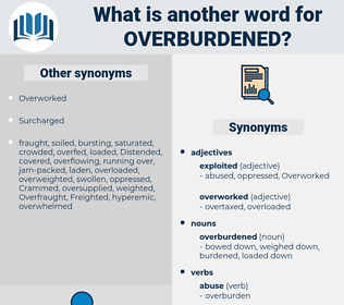 overburdened, synonym overburdened, another word for overburdened, words like overburdened, thesaurus overburdened